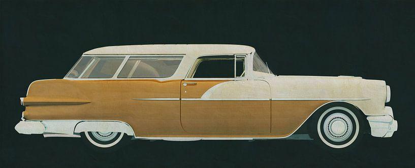 Pontiac Station Wagon 1956 van Jan Keteleer