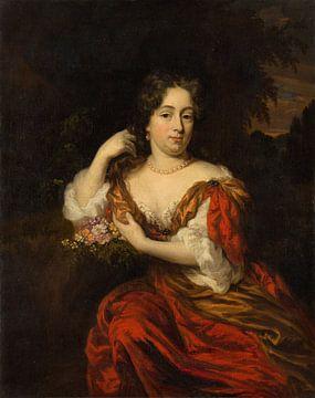 Porträt von Catharina Dierquens, Nicolaes Maes