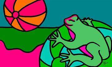 Frosch mit Sonne von ART Eva Maria