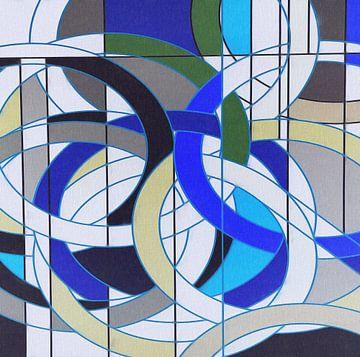 Abstract geometrische vormen van Maurice Dawson
