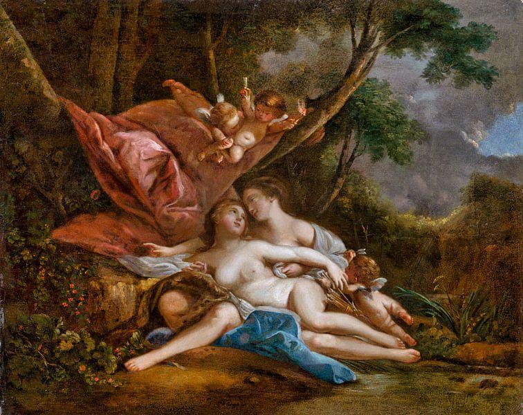 Diana und Kallisto, , François Boucher, 1760 von Atelier Liesjes