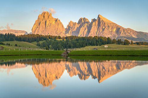 Alpenglühen auf der Seiser Alm