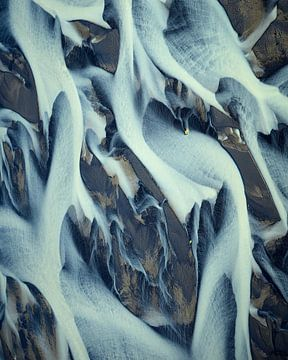 Rivier Delta Texturen van IJsland #1 van Keith Wilson Photography