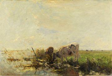 Koeien aan een plas (1880-1910), Willem Maris