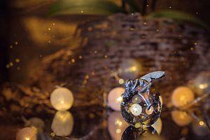 Magische engel met kristallen bol van Angelique van Kreij