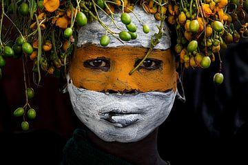 Surma Stamm Mädchen - Äthiopien, Joxe Inazio Kuesta von 1x