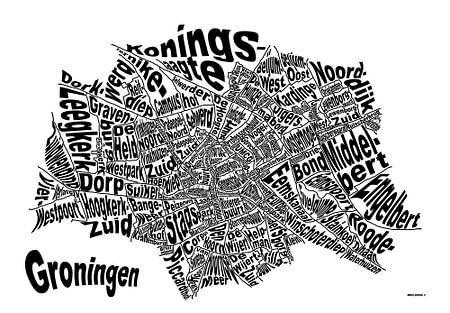 Textmap Groningen(zwart)