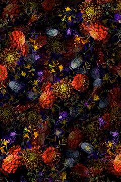 Print van bloemen van Maaike Andrews