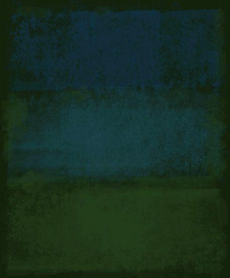 Abstract in diep groene tinten