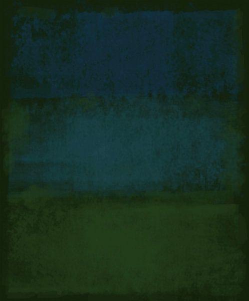 Abstract in diep groene tinten van Rietje Bulthuis