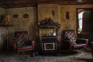 Een verlaten woonkamer ergens in België