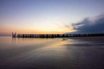 zonsondergang westkappele van Leon Ouwehand