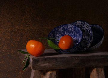 Stilleven met mandarijnen van Odette Kleeblatt