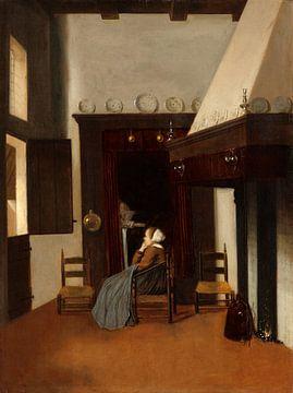 Junge Frau in einem Innenraum, Jacobus Vrel