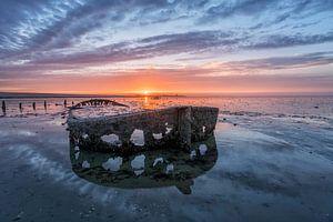 sunset Oostmahorn van Michel Jansen