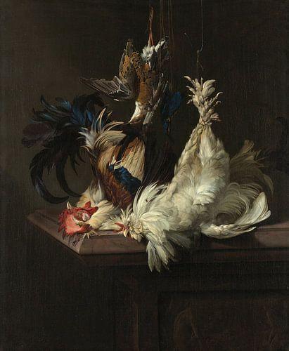 Stillleben mit Geflügel - Willem van Aelst von 1000 Schilderijen