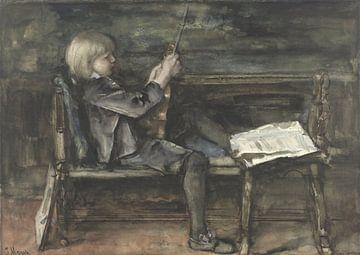 Porträt von Willem Matthijs Maris, mit Geige, Jacob Maris