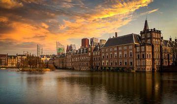 Den Haag hofvijfer zonsondergang van Marjolein van Middelkoop