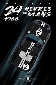 Winnaar 24 Heures du Mans 1966 van Theodor Decker