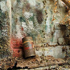 Uitstrijkmuur in schilderswerkplaats van Jan Sportel Photography