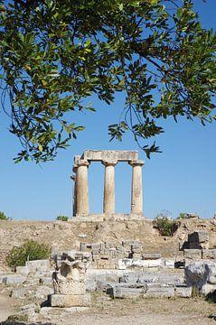 Der Apollon-Tempel in Korinth von Berthold Werner