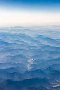 Bergen van bovenaf gezien