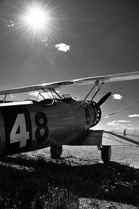 Dubbeldekker vliegtuig van