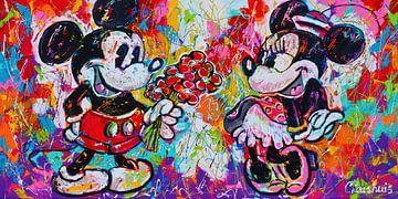 Minnie und Mickey von Vrolijk Schilderij