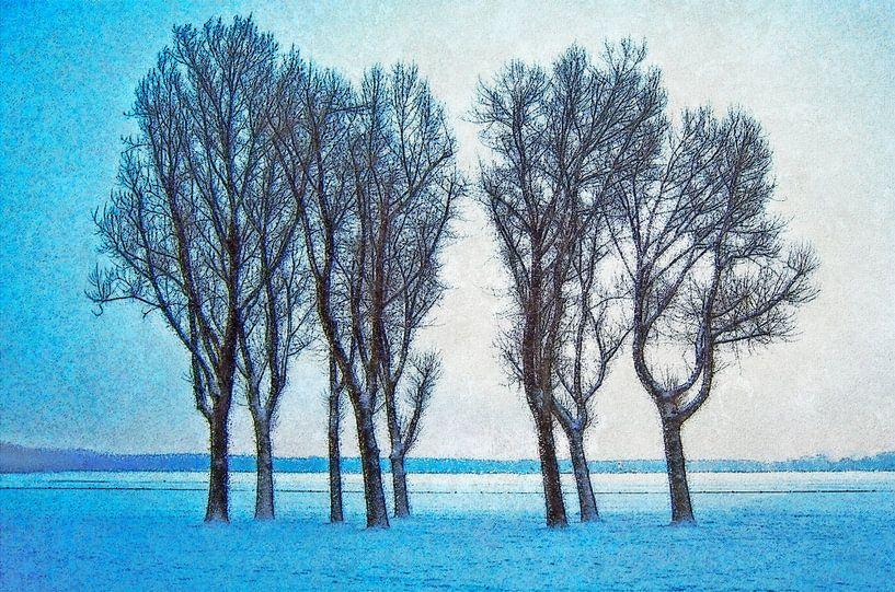 Winterbeeld Kralingse Plas van Frans Blok