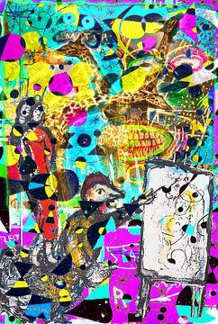 Kunstparty mit Chagall Miro Rothko Basquiat Brandt und Zanolino von Giovani Zanolino
