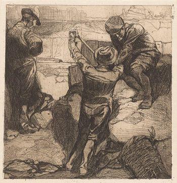 arbeiders aan het werk, Johannes Josephus Aarts van Atelier Liesjes