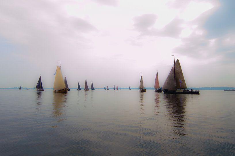 Botters Racen op het meer van Brian Morgan