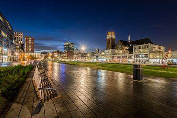 Hoogstraat in Rotterdam | Blauwe Uur van Mark De Rooij