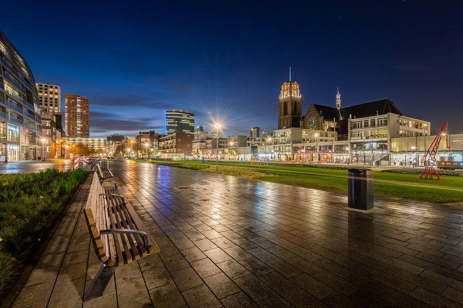 Hoogstraat in Rotterdam | Blauwe Uur
