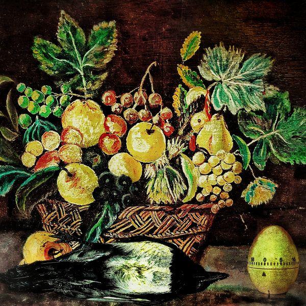 Stilleven met dode ekster en eierwekker van Ruben van Gogh