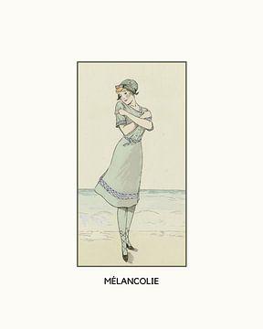 Mélancolie   Art Deco Romantisch, historische print van NOONY