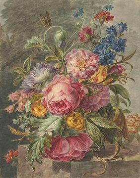 Stilleven met bloemen van Rudy en Gisela Schlechter