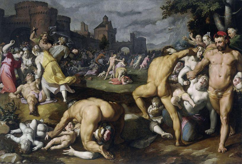De kindermoord in Bethlehem, Cornelis Cornelisz. van Haarlem van Meesterlijcke Meesters