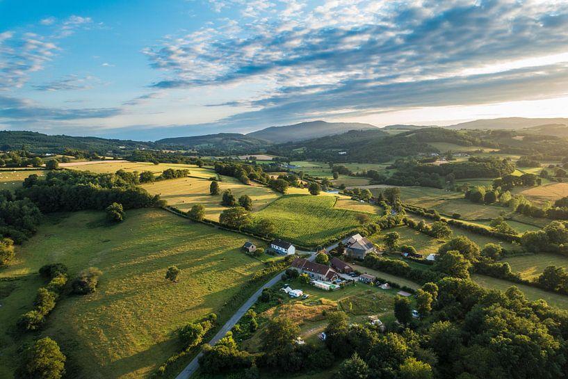 Landschap in de Morvan, Frankrijk van Stefan Wapstra