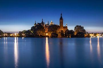 Schloss Schwerin in der blauen Stunde