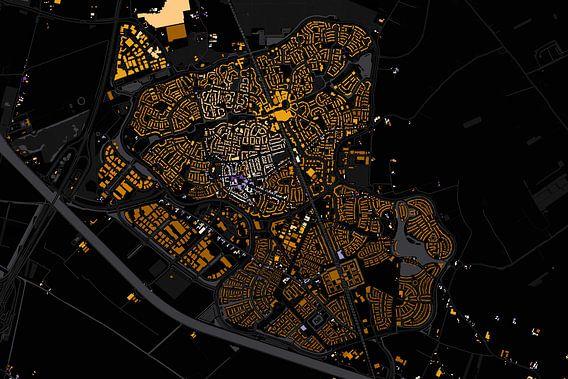Kaart van Houten abstract van Stef Verdonk