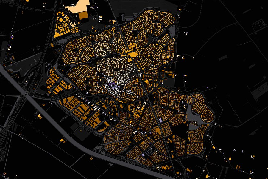 Kaart van Houten abstract