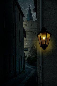 Landschaft im Erzgebirge  Abends in Zschopau von Johnny Flash