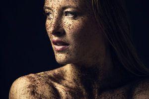Portret van vrouw, zeer gedetaileerd van