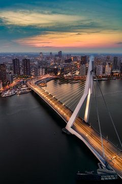 Zonsondergang in Rotterdam sur Roy Poots