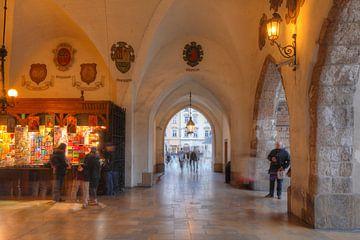 Krakauer Tuchhallen bei Abenddämmerung , Krakau, Polen, Europa