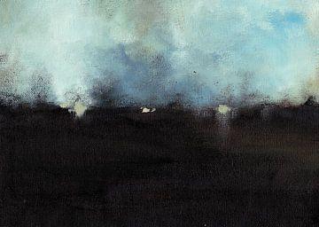 Dunkle Landschaft 2 von Maria Kitano