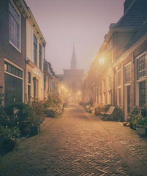 Haarlem: Kerkstraat in de mist. von Olaf Kramer