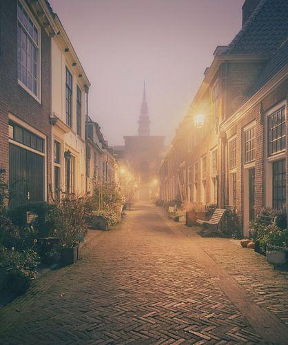 Haarlem: Kerkstraat in de mist.