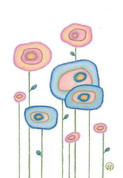 Abstracte Achatblumen von Monique van Kipshagen